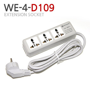 [Swisspshop] WE4-D109Universal Extension socket3구 콘센트[전세계 사용가능]